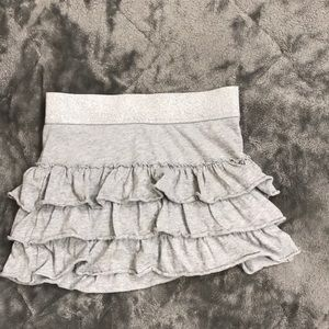 Justice girls skirt grey